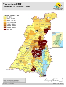 The waters closest to the homes in the darker brown areas are degraded by stormwater pollution and are likely unfit for any human uses.