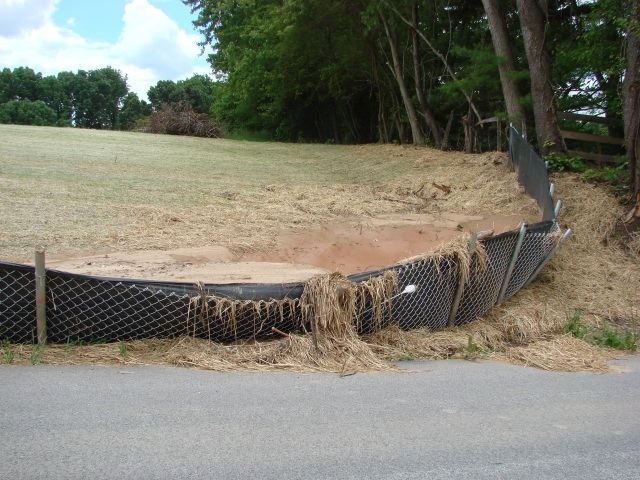 Silt Fence Overflow